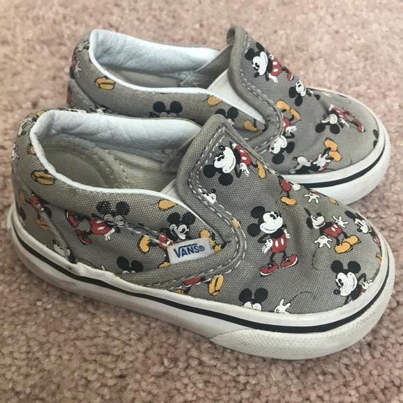 4d6e638ec2 Disney Mickey Mouse Baby Toddler Vans Size 4. M 5b64c1dc25457acc7b91c419